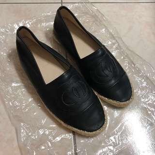 🚚 韓風黑色平底休閒懶人鞋#25