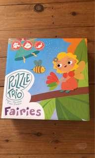 Fairy Jigsaw Puzzle box Trio set - as new - pickup North Narrabeen