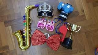 🚚 Photobooth Props set A, birthday wedding event party