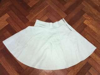 Mint Green Zip Skater Skirt FREE POS