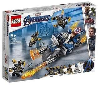 Lego Super Heroes 76123 Captain America:Outriders Attack 2019 167 pcs