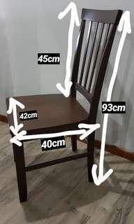 Picket and Rail Dining Chair × 6