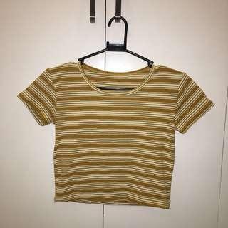 Mustard Yellow Crop Shirt