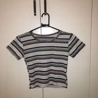 Ribbed Crop Shirt
