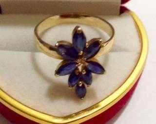 Authentic Sapphire Ring