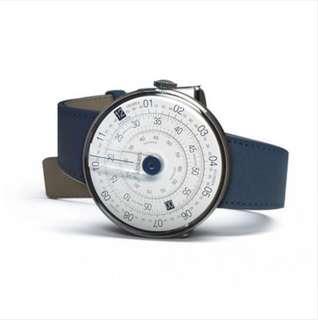 全新 包郵 Klokers KLOK-01 44mm Watch (blue)