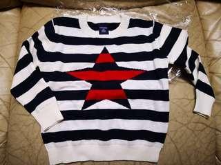 3-4歲 #黑白間星星衫 #啡色外套