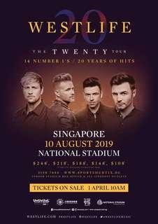 🚚 Selling 2 or 4 Cat 2 Westlife tickets