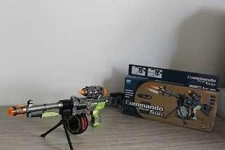 New Electronic Combat Army Gun B/O Rifle Lights & Sound