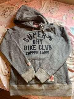 🚚 SuperDry Bike Club 刷毛帽T