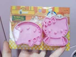 Brand New 2pc Set Hello Kitty Cookie Cutter