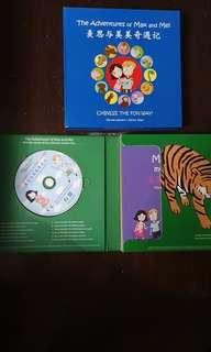 🚚 Max and Mei story books and audio CD boxes set for children