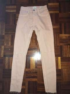 Light Pink Mid Rise Jeggings