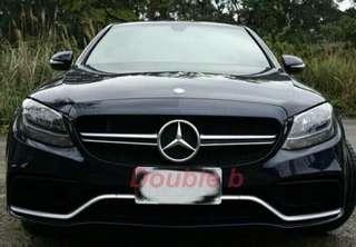 Double b BENZ W205 AMG 水箱罩 AN品牌 C200 C250 C300 C63 超優密合度