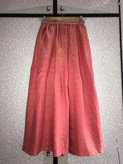 🚚 Long Salmon-Pink Mermaid skirt