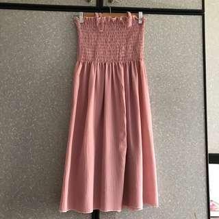 🚚 Ulzzang Dusty Pink Spaghetti dress