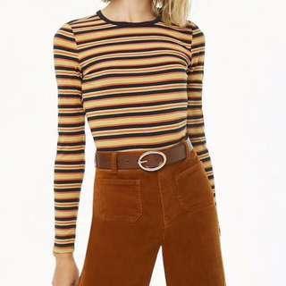 F21 stripe tshirt