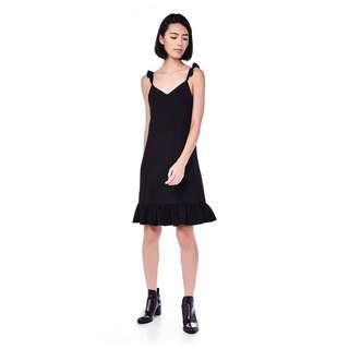 The Editors Market Marla Ruffle Hem Midi Dress (Size S)
