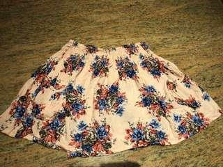 🚚 Cotton On Pink Floral Flare Skirt