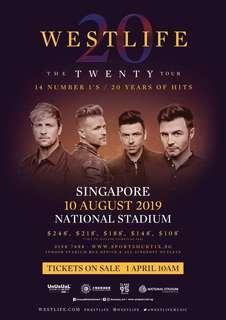 🚚 2x Westlife Cat 2 tickets at original price