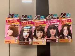 染髮膏 啡色 台灣品牌卡樂芙 購自台灣 100%未開封