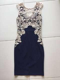 🚚 Lipsy Lace Blue Dress