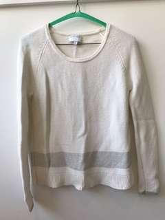 Witchery white silver knit jumper