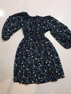 Plus size off shoulder dress