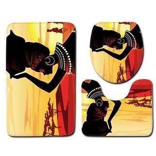 Africa Women Painting Doormat Sets
