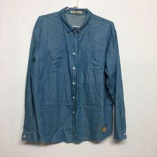 Queen shop 牛仔襯衫XL(男)