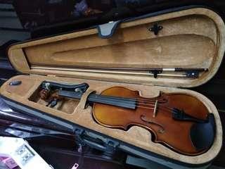 Violin 小提琴 4/4,連肩托
