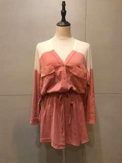 🚚 正韓粉色系綁帶洋裝