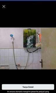 Water heater pemandian khusus mandi hangat tanpa listrik dan bisa penghematan listrik dan membantu kluarga anda dirumah