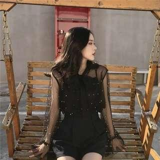 Black Two Clothes Top (READY STOCK)