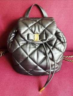 🚚 Authentic Salvatore Ferragamo Vara Quilted Nappa Leather Backpack