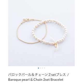 日本製珍珠手鍊(微風南山購入)