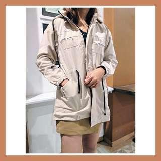 Preloved baju kemeja dress blouse jumpsuit playsuit outer outwear parka mocca krem wanita cewek murah korean vintage bohemian casual formal kerja kantor