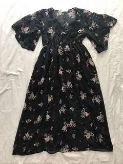 Zara Black Floral Dress