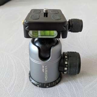 VARAVON BH-35P Camera Video Panning Ball Head w BASE PLATE - used in EXCELLENT condition