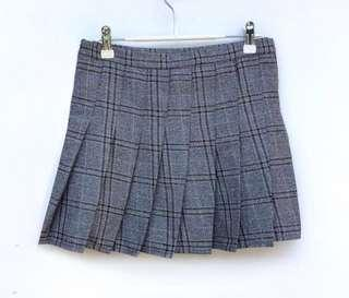 Gingham Quality Pleated Skirt