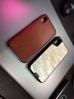 Case iphone x mous & leather case original