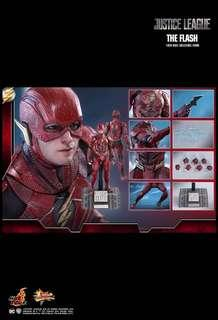 """*PO* Hot Toys MMS448 1/6th scale Justice League Ezra Miller as The Flash 12"""" Collectible Figure DC comics"""