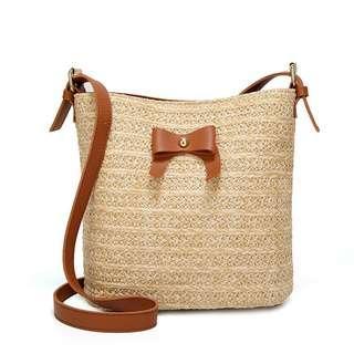Woven Shoulder Purse Bag