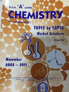 A level chemistry TYS 2002-2011