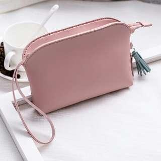 Pu Leather Coin Purse Clutch Wrist Bag