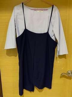 🚚 條紋兩件式裙子