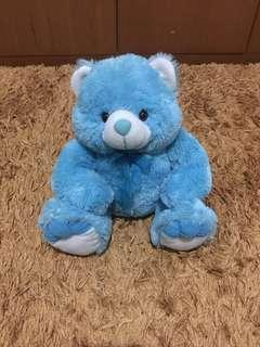 Blue Bear Plush Doll Super Halus