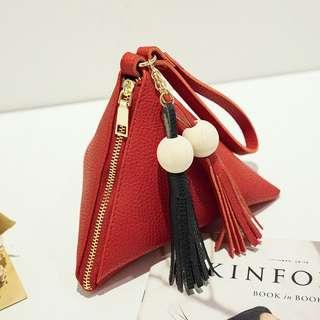 Leather Coin Purse Bag Mini Clutch Bag Wallet