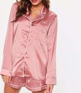 Pink Pajama with White Piping