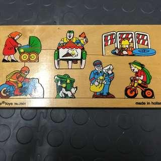 made in holland wooden puzzle great quality green toy ramah lingkungan